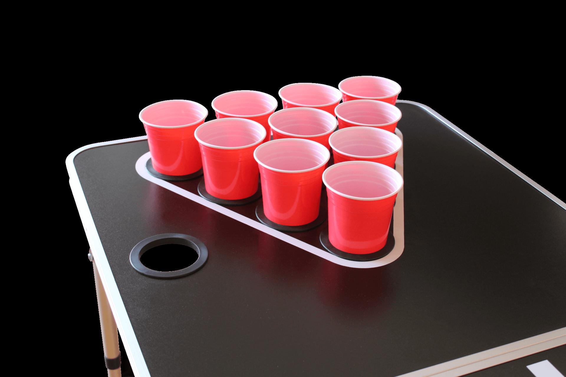 Beer Pong Tisch mit Löchern für Becher Becherhalter